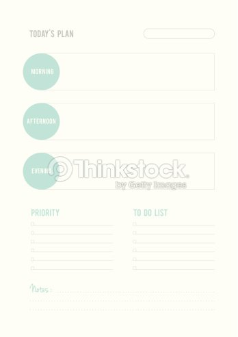 todays plan priority to do list and notes vector art thinkstock