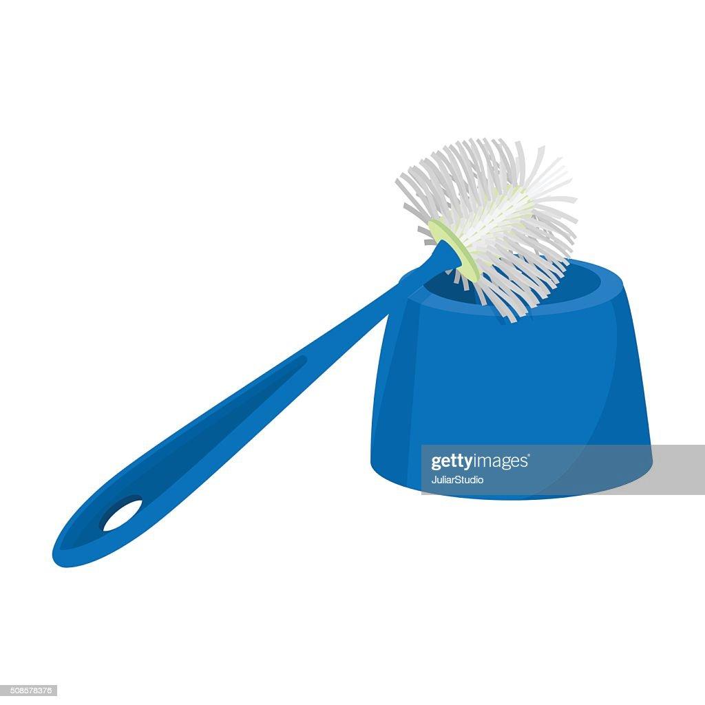 Toilet brush cartoon icon : Vector Art
