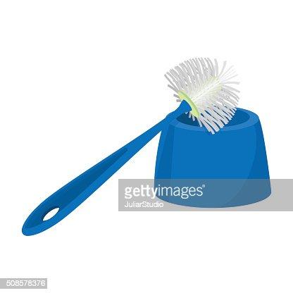 Toilettenbürste Comic-Symbol : Vektorgrafik