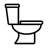 Illustration of toilet icon on white background