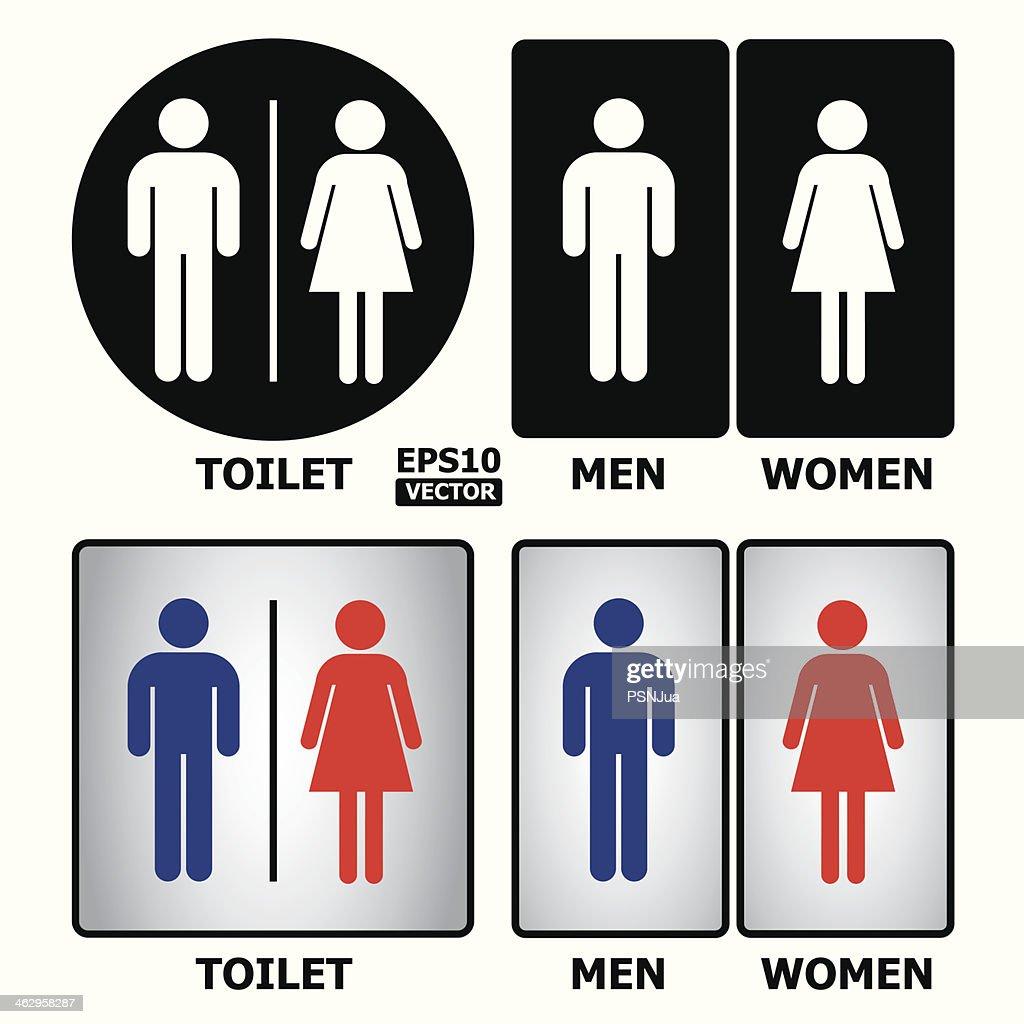 bathroom sign vector. Toilet Or Restroom Sign Vector Art Thinkstock Bathroom
