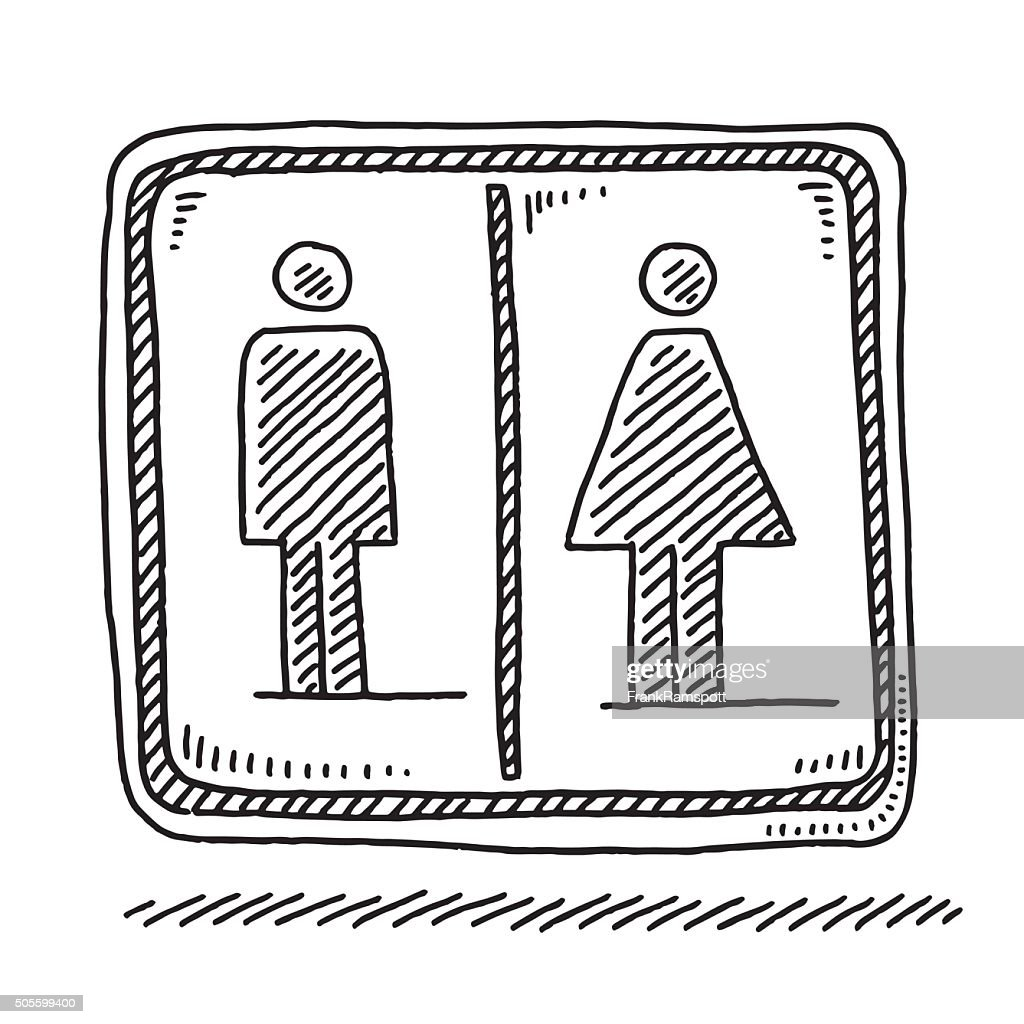 toilet drawing. Toilet Sign Men Women Symbol Drawing  Vector Art Getty Images