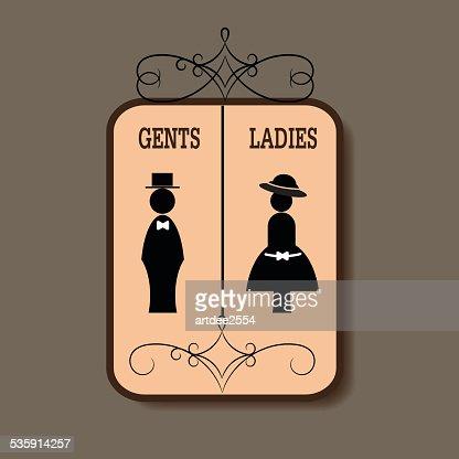 Toilet Sign : Vector Art