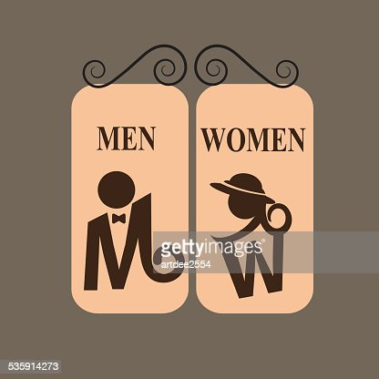 Toilet Sign : Vector Art