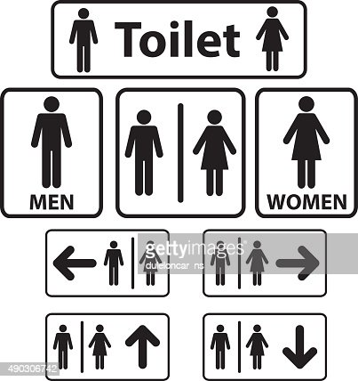 Bathroom Signs Vector toilet signs vector art | thinkstock