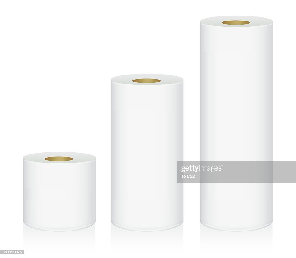 Toilet tissue 3 size : Vector Art