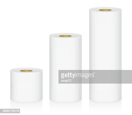 Toilet tissue 3 size : Vector Art