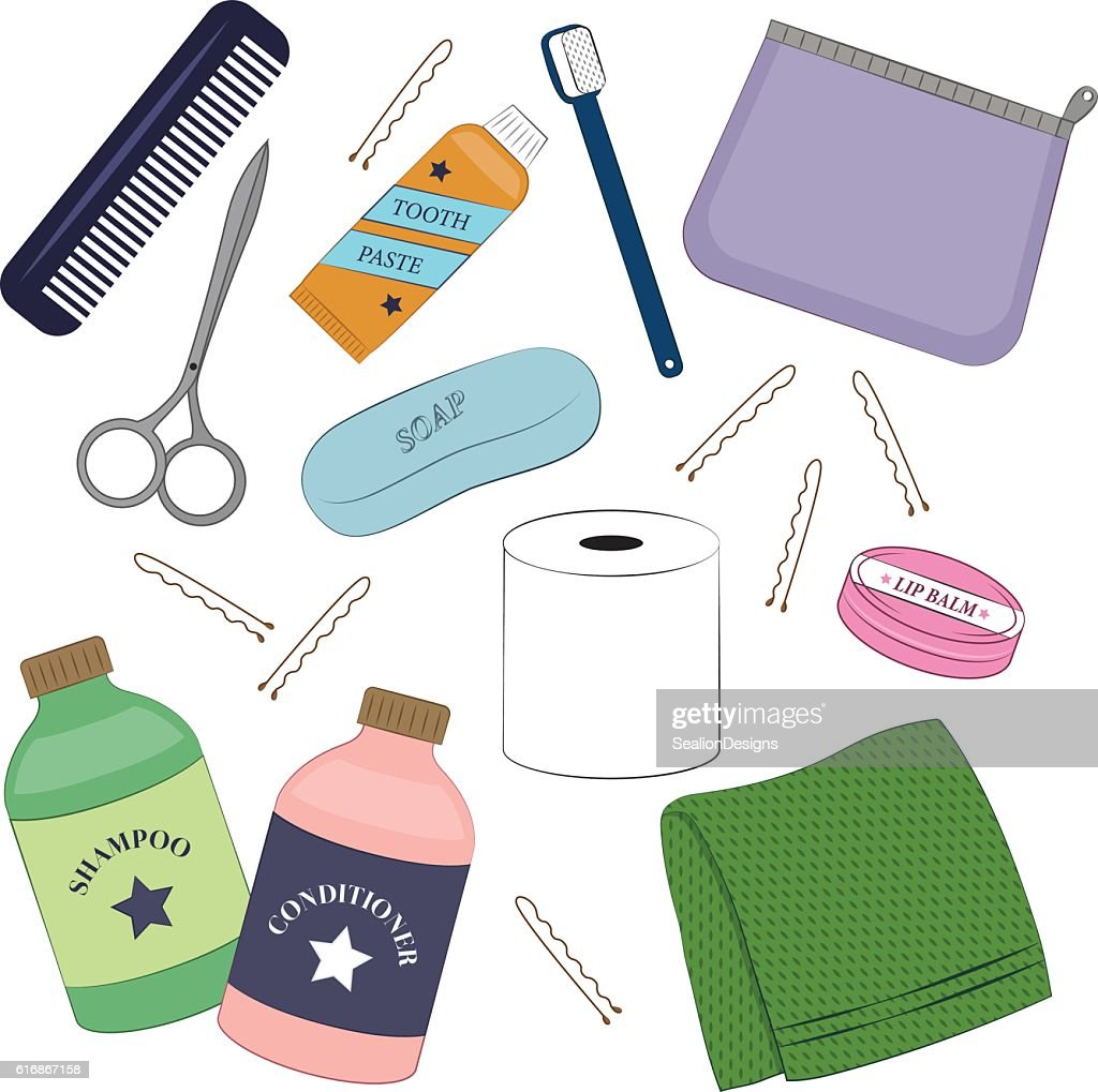 Toiletry Personal Hygiene Vector Set : Vector Art