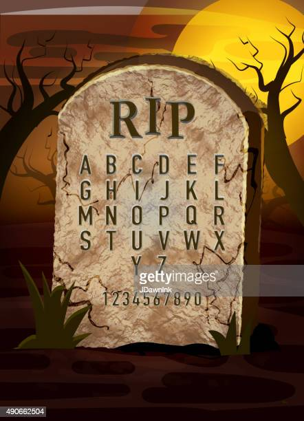 tombstone templates for halloween - tombstone stock illustrations and cartoons getty images