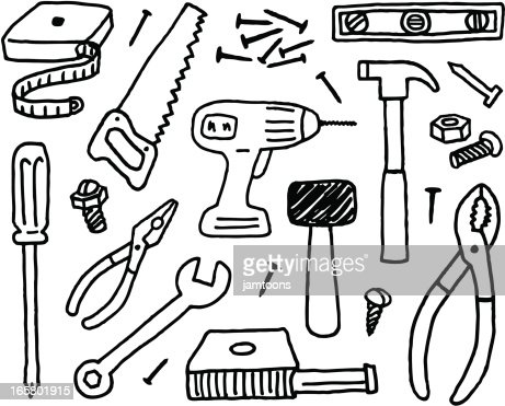 Tool Doodles Vector Art Getty Images