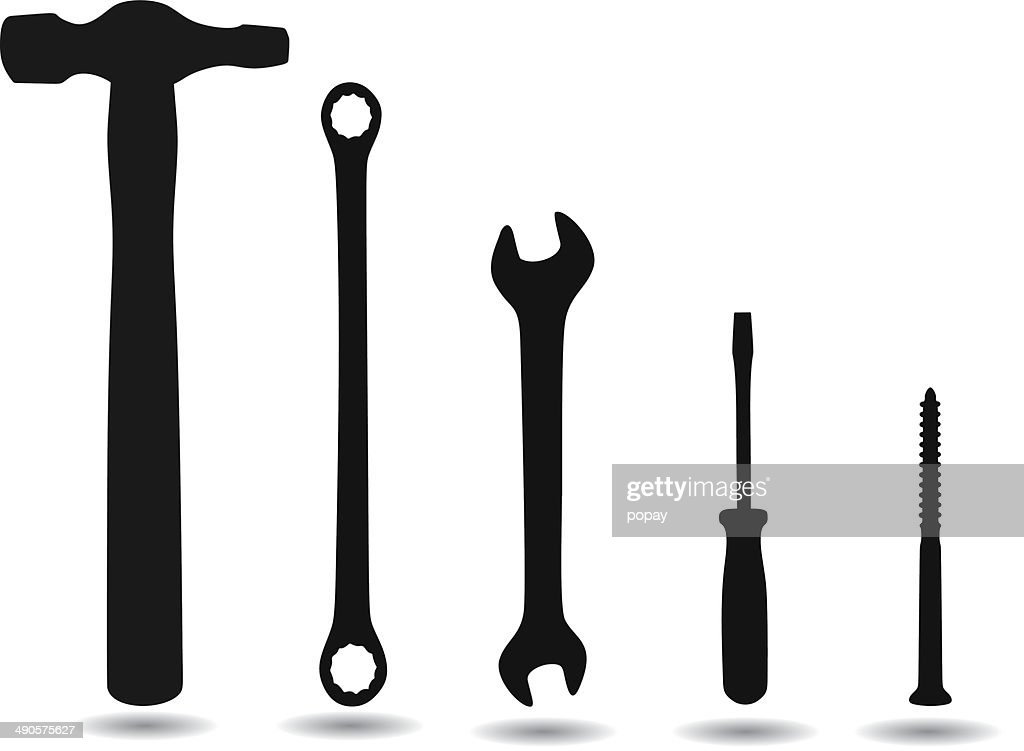 Tool Silhouettes Vector Art | Getty Images