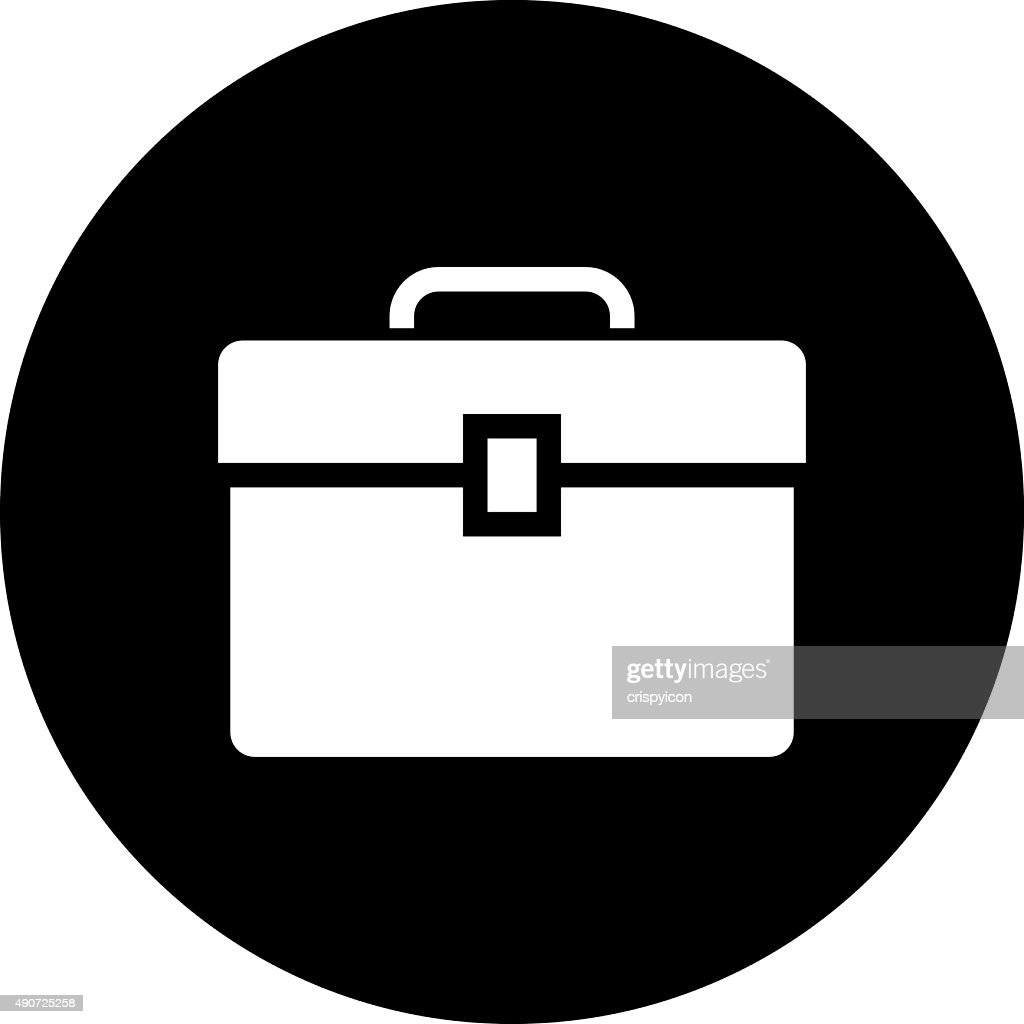 toolbox icon. toolbox icon on a round button dimseries vector art