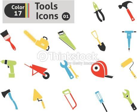 Iconos de herramientas arte vectorial thinkstock - Herramientas del albanil ...