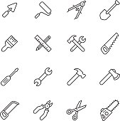 Tools line icons