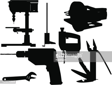 Tools Silhouette Collection Vector Art | Getty Images