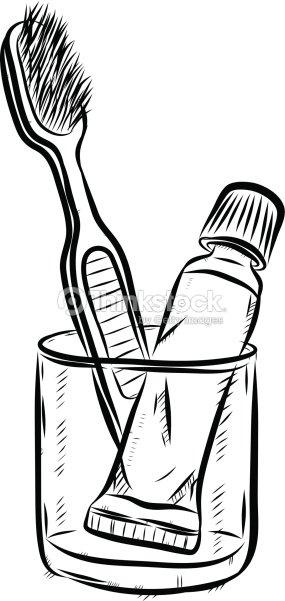 Brosse dents et dentifrice dessin anim clipart - Dessin de dent ...