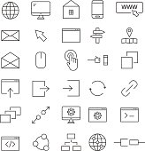 30 web line icons. Icons for user interface and web.