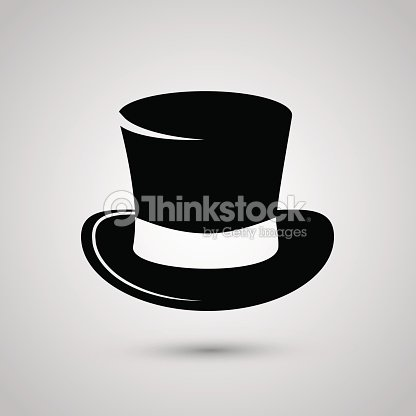 6b1d9845b Top Hat Icon Isolated On White Background stock vector | Thinkstock