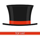 494439590  iStock  Sombrero de copa icono aislado sobre fondo blanco. Vector  illustration of elegant top hat isolated on white background. 7294e22371e