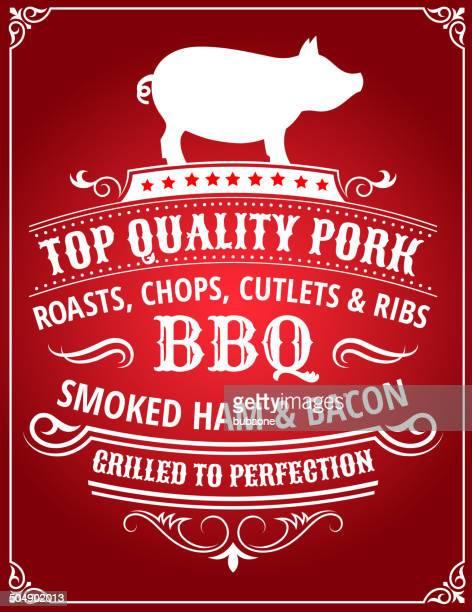 Top Qualität Schweinefleisch Barbecue-Poster