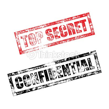Top Secret Confidential Stamp Vintage Rubber Ink Print Vektorgrafik