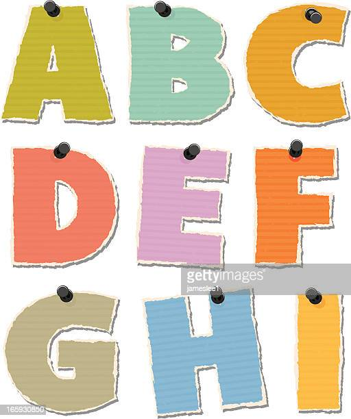 Torn Paper Alphabet