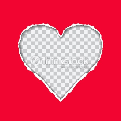 Torn red paper with a heartshaped on transparent background suitable torn red paper with a heart shaped on transparent background suitable as a greeting card vector m4hsunfo