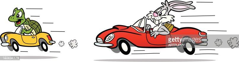 Tortue et li vre de voitures clipart vectoriel getty images - Voiture tortue ...