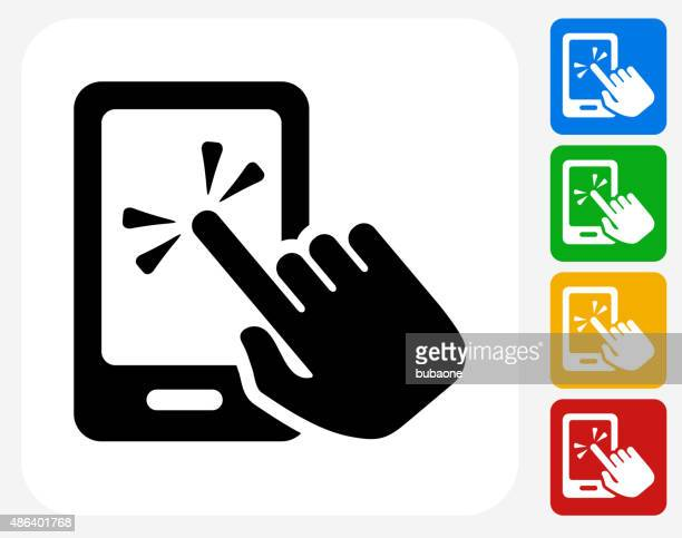 Touch Screen Smart Phone Icon Flat Graphic Design