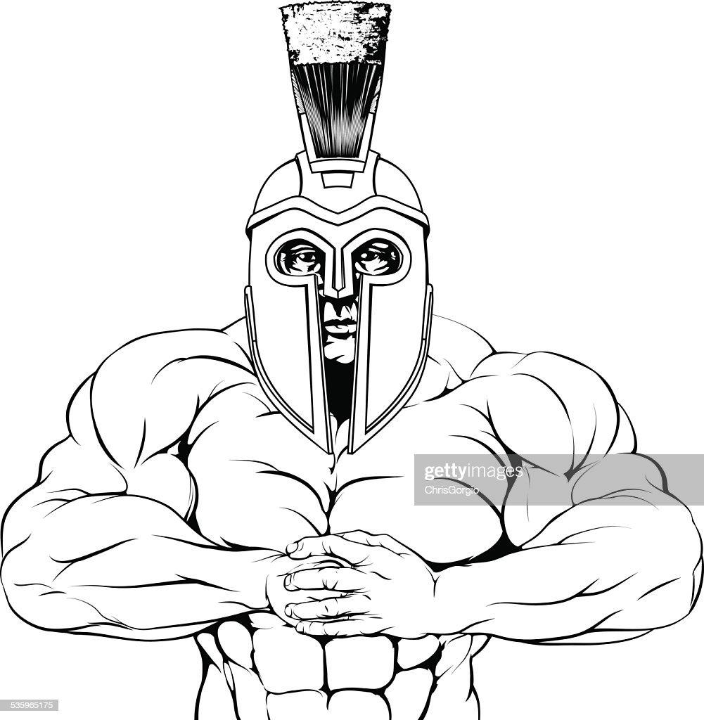 Tough trojan spartan or gladiator : Vector Art