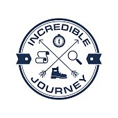 Tourism, Adventure Travel vector logo symbol template