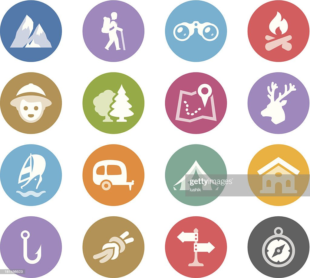 Tourism and Camping / Wheelico icons : Vector Art