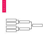 Tournament bracket vector icon