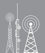 towers telecommunication television radio vector illustration eps 10