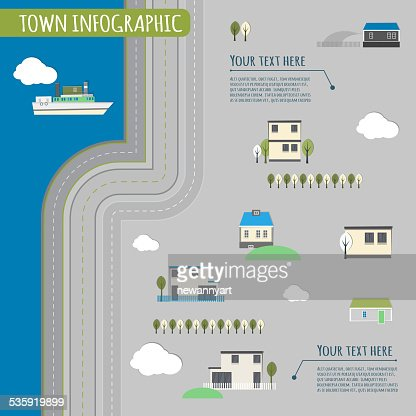 town infographics : Vector Art