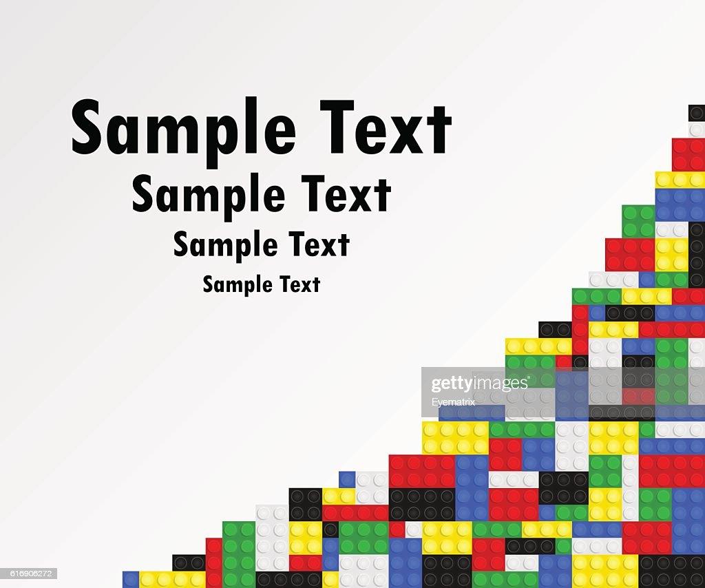 Toy Bricks Background Frame : Vector Art