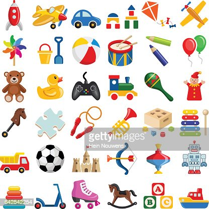 Toy icon collection : stock vector