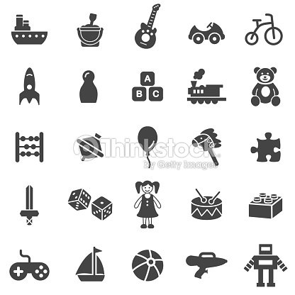 Toy Icon Set : stock vector
