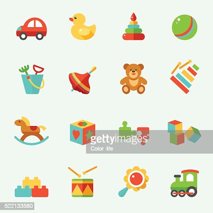 Toy icons : stock vector