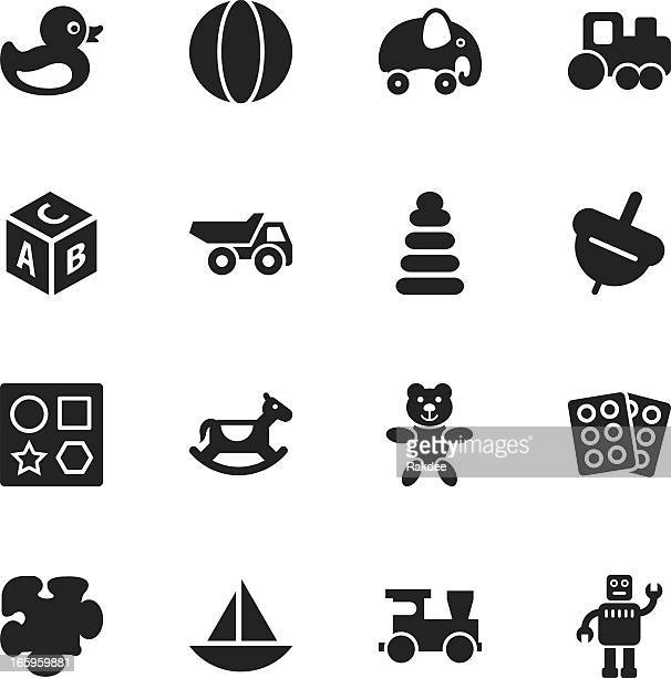 Silhouette di icone giocattoli