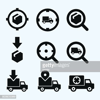 track my order icon vector art getty images. Black Bedroom Furniture Sets. Home Design Ideas