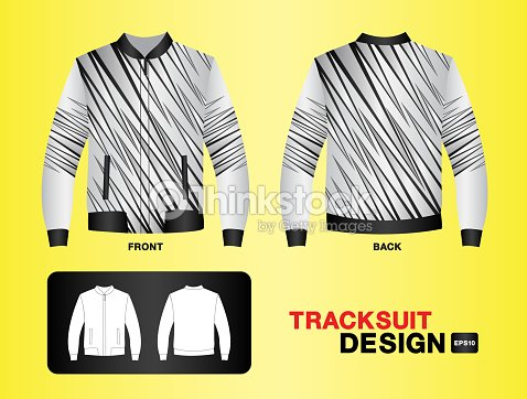 Tracksuit Training Design Template For Soccer Jersey Football Basketball T Shirt Mock Up Uniform Clothes Fashion Layout Vector