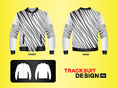 Tracksuit & Training design template for soccer jersey, football, basketball, jersey. T-shirt mock up , uniform ,clothes, fashion layout. vector illustration