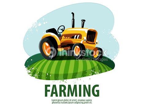 tractor vector logo design template harvest or farm icon vector art