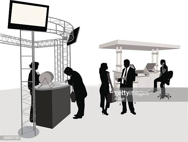 Trade Booth Vector Silhouette