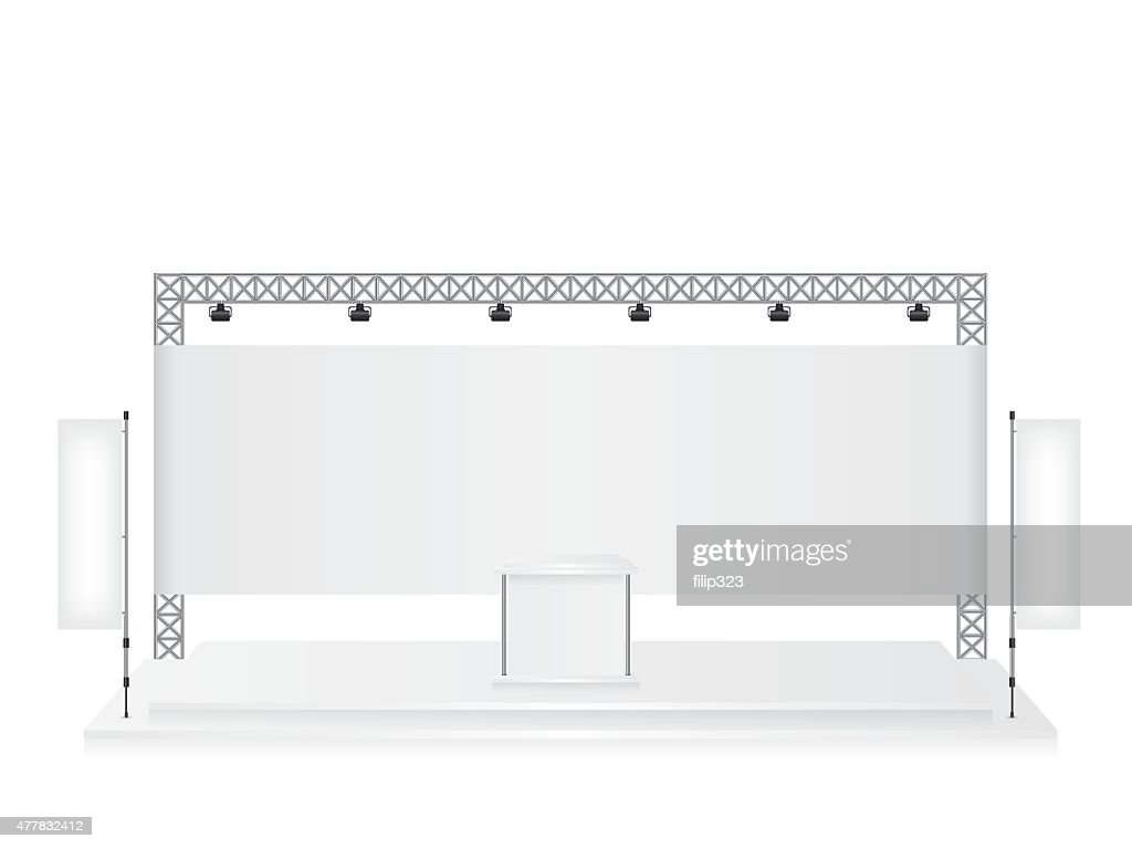 Trade Exhibition Stand Vector : Trade exhibition stand exhibition round d rendering visualiza