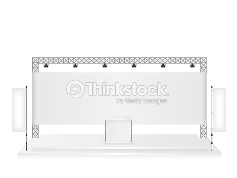 Exhibition Stand Drawing : Trade exhibition stand and flag banner stock vector thinkstock
