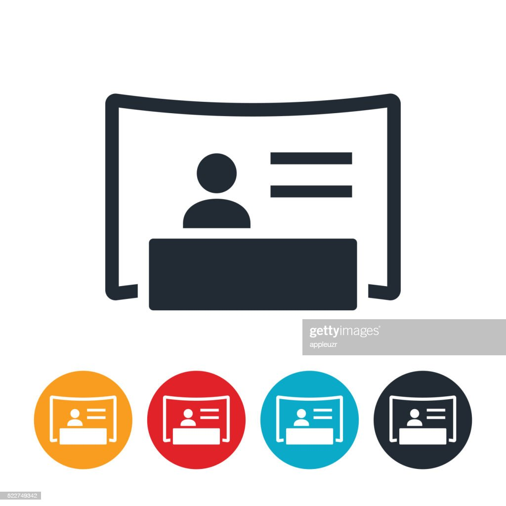 Exhibition Booth Icon : Tradeshow booth icon vector art getty images