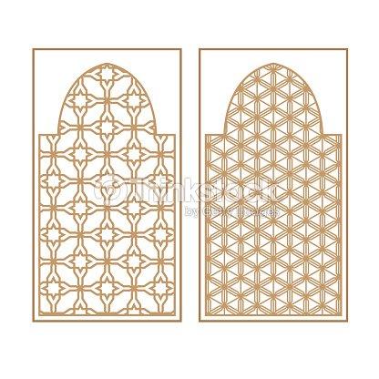 arabe traditionnel fen tre et porte motif vector ensemble clipart vectoriel thinkstock. Black Bedroom Furniture Sets. Home Design Ideas