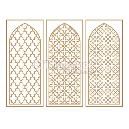 arabe traditionnel fen tre et porte motif vector ensemble clipart vectoriel thinkstock. Black Bedroom Furniture Sets. Home Design Ideas